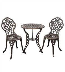Tuscan Style Furniture - Chanticleer Bistro Table & Chairs - Tuscan ...