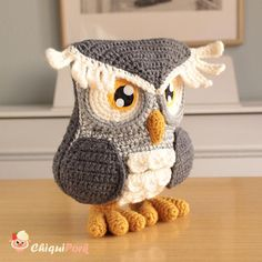 Crochet owl plushie, Stuffed owl figurine, Amigurumi owl sculpture Crochet toy Owl gifts Crochet animals owl decor Owl plush - Ready to ship Crochet Owls, Crochet Gifts, Crochet Animals, Crochet Patterns, Bird Barn, Owl Crafts, Baby Owls, Felt Toys, Stuffed Owl