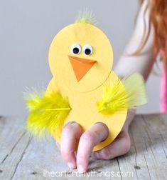 ❤ Papír csibe ujjbáb - egyszerű húsvéti ötlet gyerekeknek papírból ❤Mindy - kreatív ötletek és dekorációk minden napra