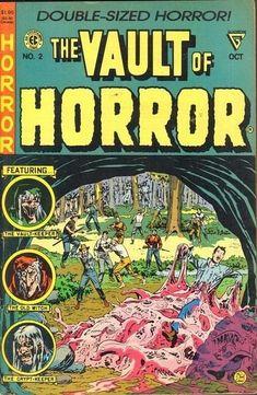 Sci Fi Comics, Horror Comics, Horror Themes, Horror Stories, Vintage Comic Books, Vintage Comics, Creepy Comics, Pulp Fiction Art, Pulp Art