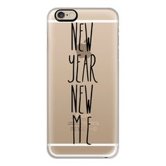 iPhone 6 Plus/6/5/5s/5c Case - New year new me transparent black ($40) ❤ liked on Polyvore featuring accessories, tech accessories, phone cases, phone, iphone, technology, iphone case, slim iphone case, transparent iphone case and apple iphone cases