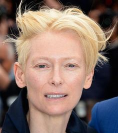 The always daring Tilda Swinton with an undercut.