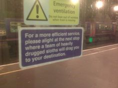 Witty London Underground signs say what everyone actually wishes public transit signs said [28 pics]