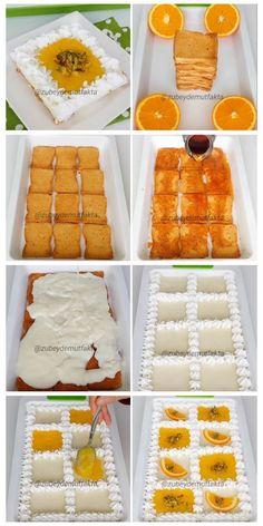 Middle Eastern Desserts, Brownie Cheesecake, Orange Recipes, Turkish Recipes, Yams, Food Design, Beautiful Cakes, Deserts, Dessert Recipes