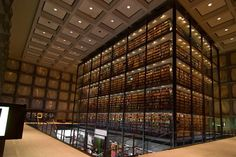 Yale University Beinecke Rare Book #Library / designed by Gordon Bunshaft #sccld