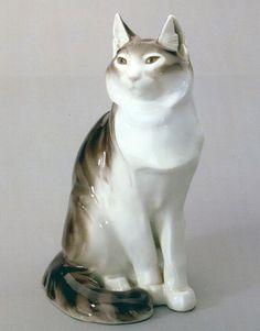 Angora cat   porcelain sculpture, 1914   Anton Puchegger