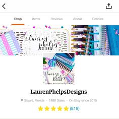 New shop look finally complete & uploaded! Along with all the new paper clips (: