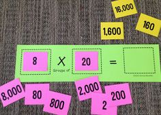 Math Coach's Corner: Extending Multiplication to Larger Numbers. Once students have a strong understanding of the meaning of multiplication, we can extend that understanding by bringing in place value concepts and using multiples of 10.  This is an essential understanding that must be in place prior to moving to multi-digit multiplication.  Includes a free work mat and number cards for small group instruction.