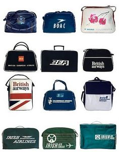 vintage airline bags