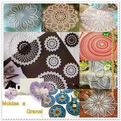 Delicadezas en crochet Gabriela: Moldes de carpetas a granel