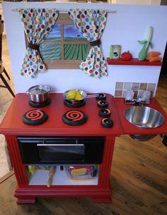 Joseph's rustic, woodsy play kitchen home счастливый ребенок Best Play Kitchen, Diy Kids Kitchen, Toy Kitchen, Kitchen Sets, Awesome Kitchen, Kitchen Worktop, Kitchen Shelves, Diy Kids Furniture, Bedroom Furniture