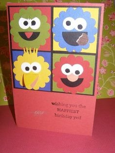 Sesame Street Card by Rhonda