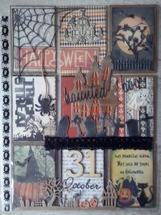 Halloween picket letter made by Susan Bosch