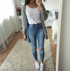 41 Cute Spring Outfits Ideas For Teens Cute Fall Outfits Casual 49 Cute Spring Outfits To Co. Cute Party Outfits, Cute Summer Outfits, Cute Casual Outfits, Casual Shirt, Spring Outfits For School, Outfit Summer, Autumn Outfit For Teen Girls, Summer Clothes, Fall Outfit Ideas