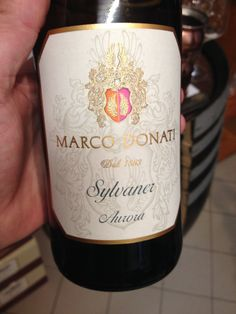 2013 Marco Donati Sylvaner  Intense straw yellow in color. Aromas of minerals, dried herbs come to the nose. Dry, soft, touches of citrus fruits and minerals on the palate. Med+ body. BP: Buy to try...as far as Sylvaner goes, Marco Donati makes a superb version