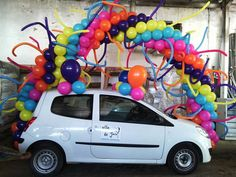 Arch I am so doing this ! Balloon Display, Balloon Arch, Balloon Decorations, Car Room, Balloon Designs, Info Board, Pink Trees, Canopies, Joy And Happiness