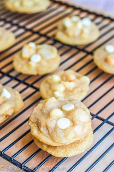 Super Chunk Macadamia Nut Cookies - the chewiest, chunkiest, softest version of the classic cookie. @Sally [Sally's Baking Addiction]