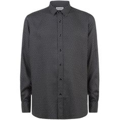 Saint Laurent Micro Star Print Shirt (£425) ❤ liked on Polyvore featuring men's fashion, men's clothing, men's shirts, men's casual shirts, mens french cuff shirts, mens star print shirt, mens slim fit casual shirts, mens print shirts and mens twill shirts