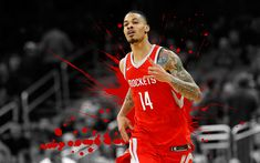 Download wallpapers Gerald Green, 4k, basketball players, NBA, Houston Rockets, grunge, basketball, art