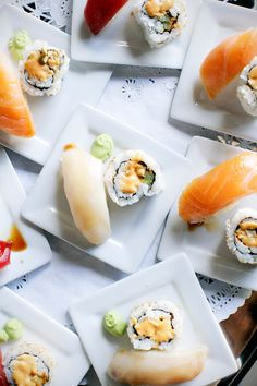 Sushi hors d'oeuvres  #fingerfood | #appetizers | #food | #sushi @WedFunApps wedfunapps.com ♥'d@WedFunApps wedfunapps.com ♥'d