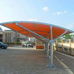 Car parking tensile structures manufacturers in Jaipur.Will provide freedom to make any king of tensile structure job any where in India. With best quality and feature. Car Porch Design, Roof Design, House Design, Shade Structure, Steel Structure, Car Shed, Car Canopy, Car Shelter, Tensile Structures
