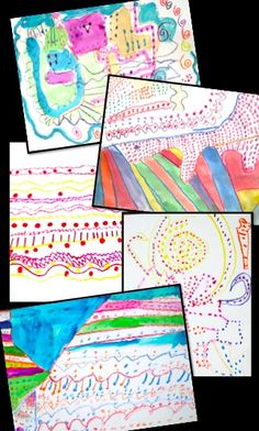 Fun with Lines & Dots - easy, fun, engaging art lesson inspired by Paul Klee