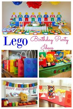 It can be difficult deciding on a party theme but a boys party theme that they will love is . a Lego party! Stuck for ideas on how to pull this together? A Lego party is fun bright and full of excitement. 5th Birthday Party Ideas, Birthday Themes For Boys, Kids Party Themes, Birthday Party Decorations, Boy Birthday, Food Decorations, Ideas Party, Fun Ideas, Bolo Lego