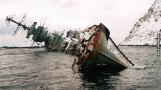 Abandoned ship near Murmansk, Russia - MemePix