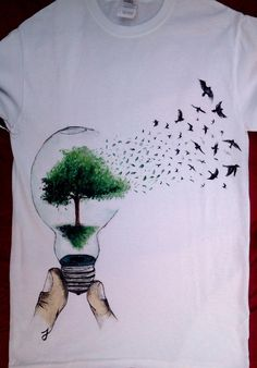 Natural Light! _ hand-painted t-shirt by TonT-shirt