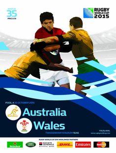 Austràlia vs Gal·les #RWC2015 #AUS vs #WAL #StrongerAsOne #Wallabies vs #iamwales