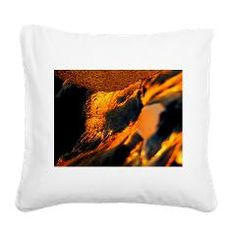 sand, brown, orange black Square Canvas Pillow > sand, nature and colorful > MehrFarbeimLeben