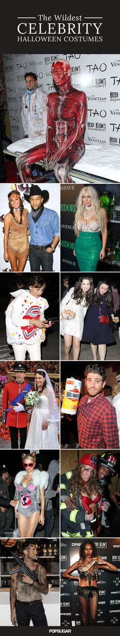 Halloween parties always bring out the best celebrities, not to mention the best celebrity costumes. Check out some of the wildest celebrity costumes over the years!