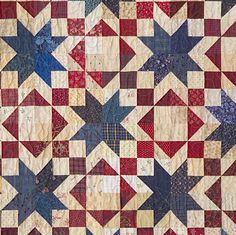 patriotic quilt pattern - love the secondary patterns in this quilt