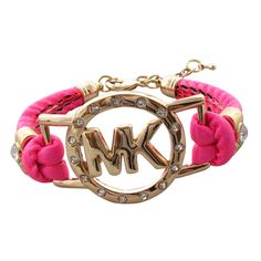 Michael Kors Rhinestone Logo Pink Accessories Outlet