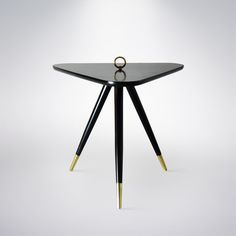 Tripod Occasional Table in the Manner of Edward Wormley. Edward Wormley, Table Manners, Tripod, Side Tables, Table Furniture, Household Items, Vintage Designs, Cool Designs, Mid Century