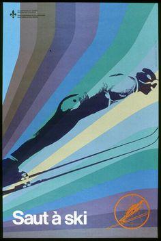 vintage ski poster - Quebec 70's