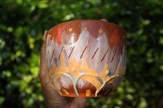 Bold Hippy Summer terracotta Bowl by Tthomasarts on Etsy, $20.00