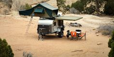 A modern take on the classic teardrop trailer, outfitted for off-grid adventure. Off Road Tent Trailer, Bug Out Trailer, Off Road Camper Trailer, Trailer Build, Camper Caravan, Camper Trailers, Trailer Diy, Expedition Trailer, Overland Trailer