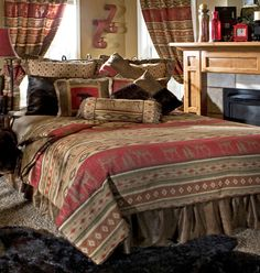 Rustic lodge bedding, western and cabin bedding collections. Find a huge selection of luxury rustic bedding and rustic bedroom furniture sets. Rustic Bedding Sets, Western Bedding, Western Comforter Sets, Eclectic Bedding, Western Quilts, Camo Bedding, Country Bedding, Bedding Decor, Bedding Collections
