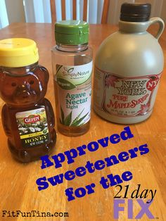 Can you use sweeteners on the 21 Day Fix? Yes! Here's a guide to what and how much. For more #21dayfix resources, head over to www.FitFunTina.com