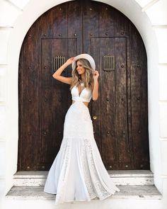 Little White Dresses, White Outfits, V Dress, Party Dress, Evening Dresses, Formal Dresses, Wedding Dresses, Wedding Rehearsal Dress, Girl Fashion
