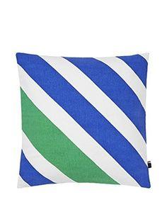 Tommy Hilfiger Diagonal Stripe Decorative Pillow, Greenbriar/Blue