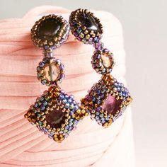 ペルシア風イヤリング 天然石アメジストビ-ズ細工の通販 by Beads Jewelry|フリル