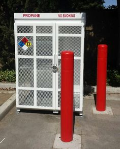 Protect Gas Cages with Post Guard Bollard Covers. Thanks to Seese Construction for the photo. https://www.postguard.com/gas-cylinder-cages.php…