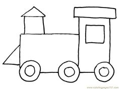 Image result for free train printable colour in