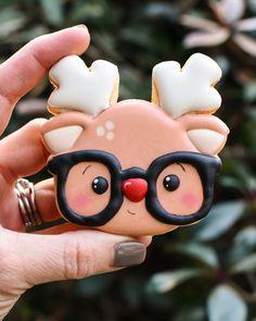 Cute Christmas Cookies, Reindeer Cookies, Iced Cookies, Christmas Sweets, Cute Cookies, Christmas Mood, Noel Christmas, Royal Icing Cookies, Holiday Cookies
