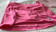 Pink running skirt from runningskirts.com