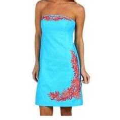 *FLASH SALE* NWT Lilly Pulitzer Turquoise Dress Stunning! That's all I can say when I look at this dress. It is a brand new and with tags still attached Lilly Pulitzer Turquoise Laroc Panel Embroidered Bowen Dress. Size 0. Tags attached with retail price of $268. Lilly Pulitzer Dresses