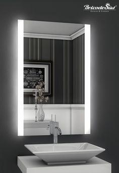 Fancy Bricode S d LED Badspiegel Persis B Badezimmer Wandspiegel mit Beleuchtung in M bel u Wohnen Badzubeh r u textilien Spiegel