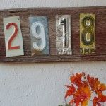 license plate house numbers - or use letter for last name :)